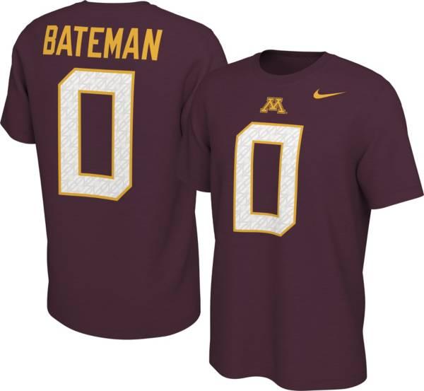 Nike Men's Minnesota Golden Gophers Rashod Bateman #0 Maroon Football Jersey T-Shirt product image