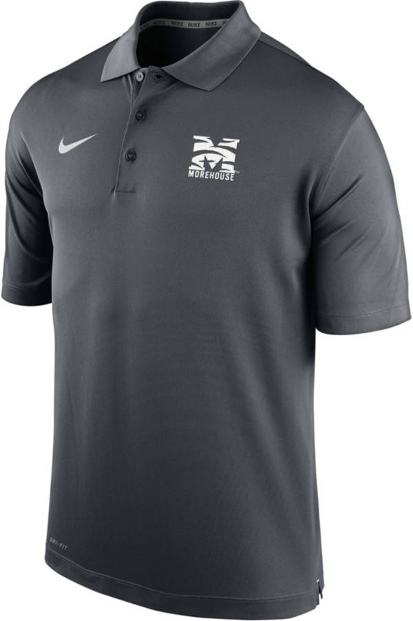 Nike Men's Morehouse College Maroon Tigers Grey Varsity Polo product image