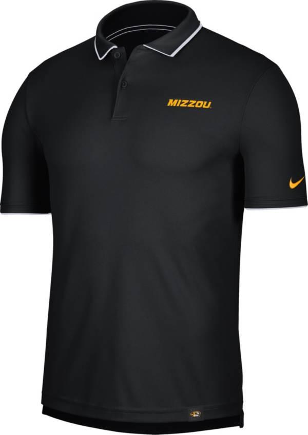 Nike Men's Missouri Tigers Dri-FIT UV Black Polo product image