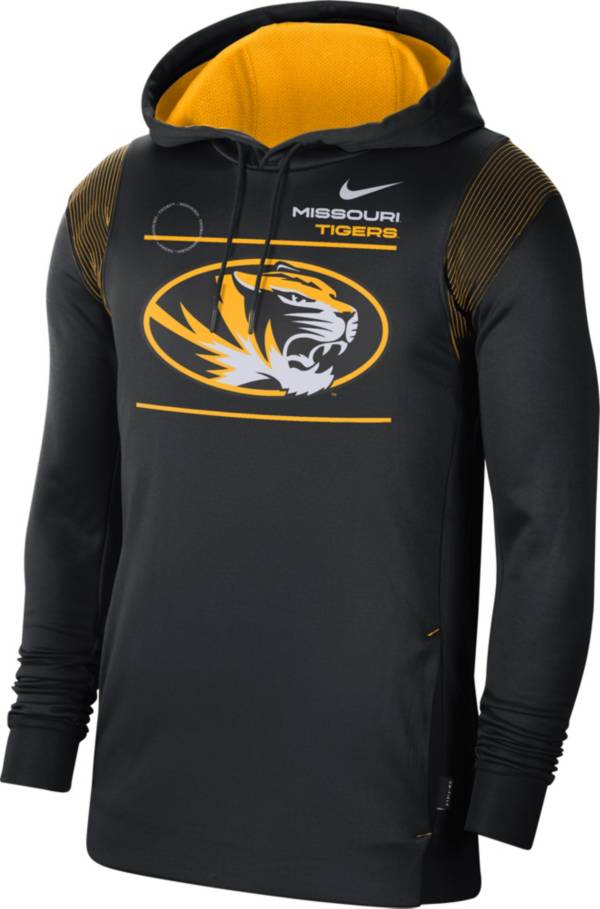Nike Men's Missouri Tigers Therma Performance Pullover Black Hoodie product image