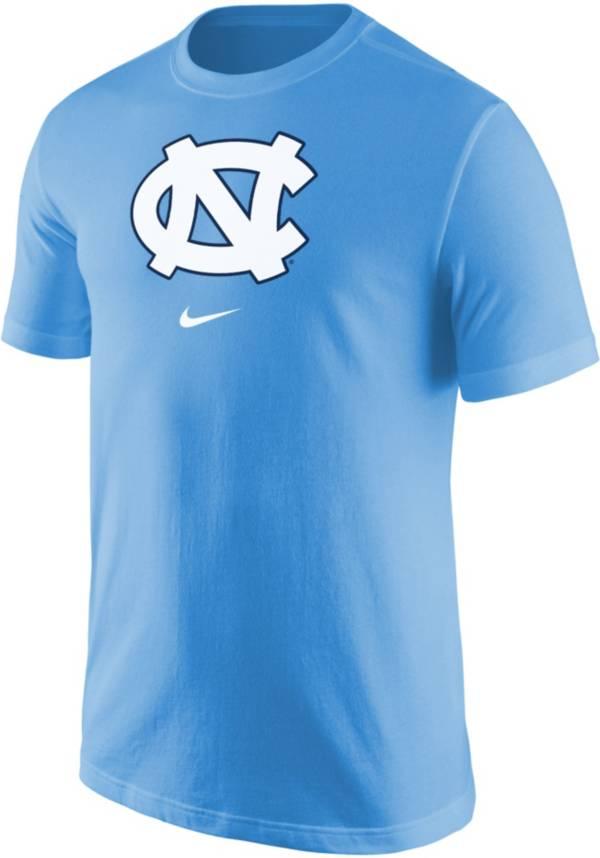 Nike Men's North Carolina Tar Heels Carolina Blue Core Cotton Logo T-Shirt product image