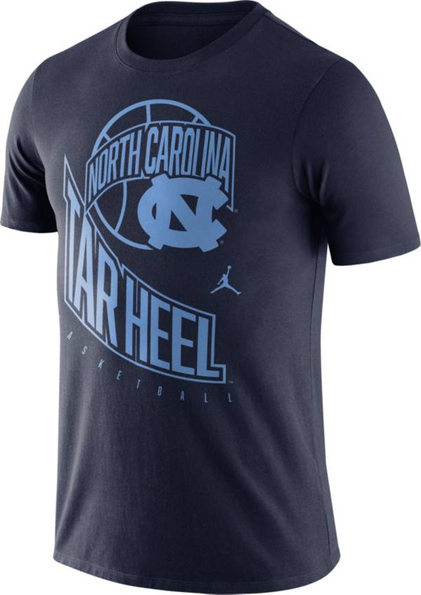 Jordan Men's North Carolina Tar Heels Navy Retro Basketball T-Shirt product image