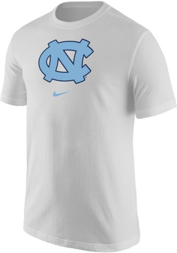 Nike Men's North Carolina Tar Heels Core Cotton Logo White T-Shirt product image