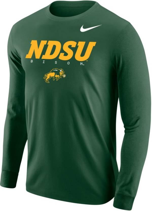 Nike Men's North Dakota State Bison Green Core Cotton Graphic Long Sleeve T-Shirt product image