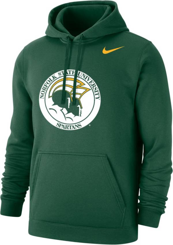 Nike Men's Norfolk State Spartans Green Club Fleece Pullover Hoodie product image