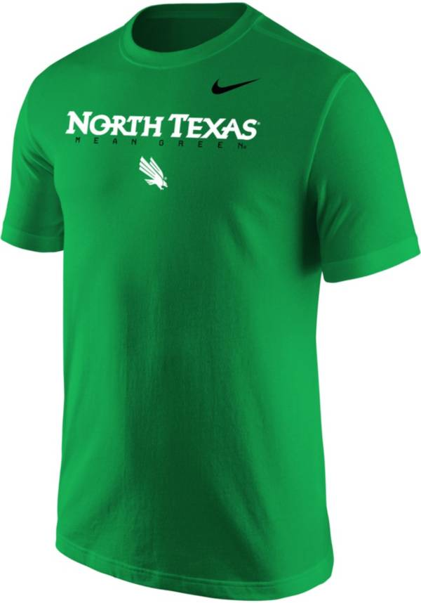 Nike Men's North Texas Mean Green Green Core Cotton Graphic T-Shirt product image
