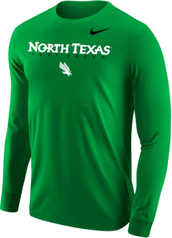 Nike Men's North Texas Mean Green Green Core Cotton Graphic Long Sleeve T-Shirt product image