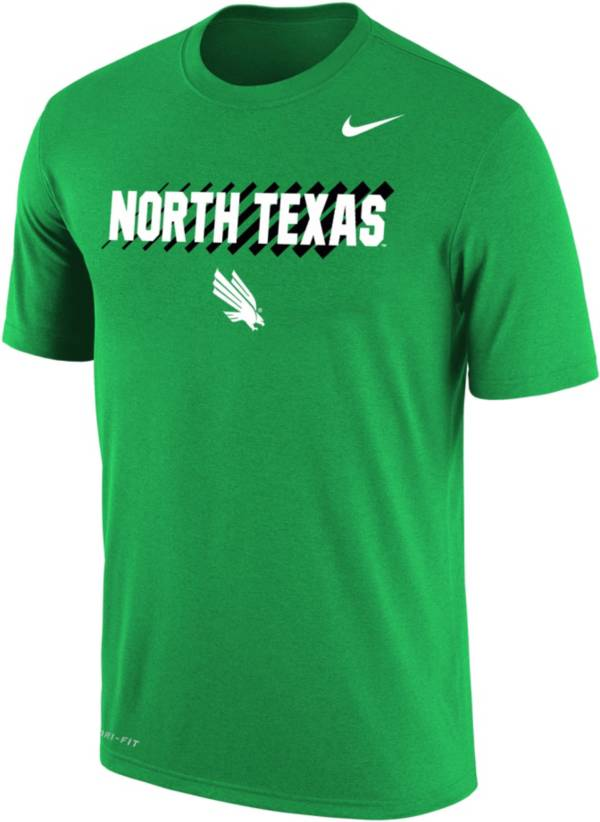 Nike Men's North Texas Mean Green Green Dri-FIT Cotton T-Shirt product image