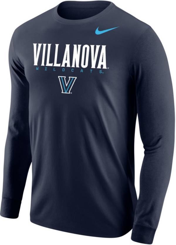 Nike Men's Villanova Wildcats Navy Core Cotton Graphic Long Sleeve T-Shirt product image
