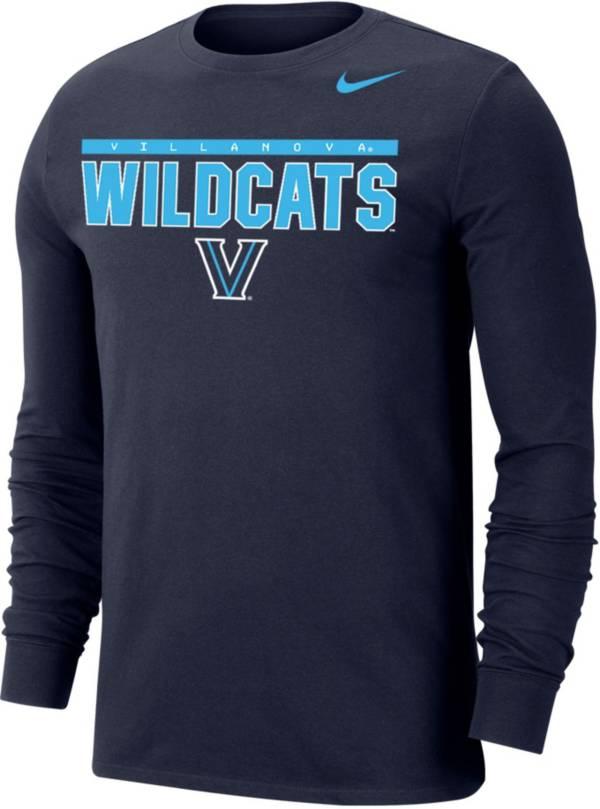 Nike Men's Villanova Wildcats Navy Dri-FIT Cotton Long Sleeve T-Shirt product image