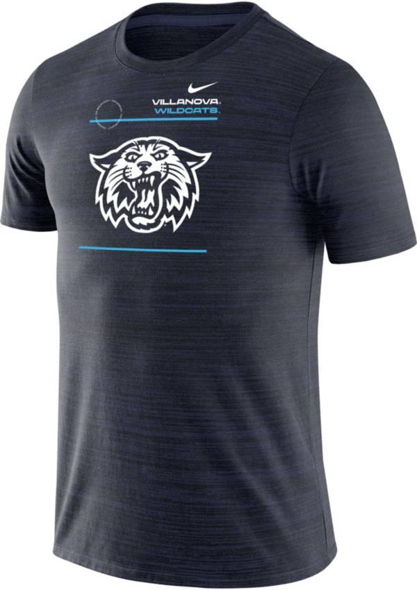 Nike Men's Villanova Wildcats Navy Football Sideline Velocity T-Shirt product image