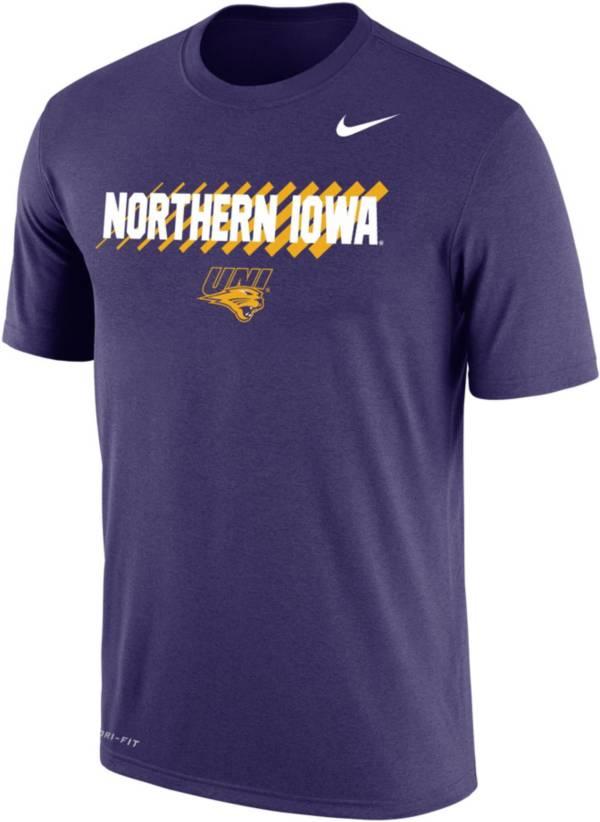 Nike Men's Northern Iowa Panthers  Purple Dri-FIT Cotton T-Shirt product image
