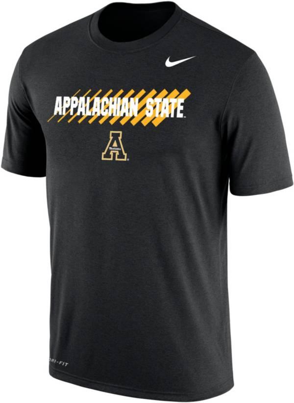 Nike Men's Appalachian State Mountaineers Dri-FIT Cotton Black T-Shirt product image