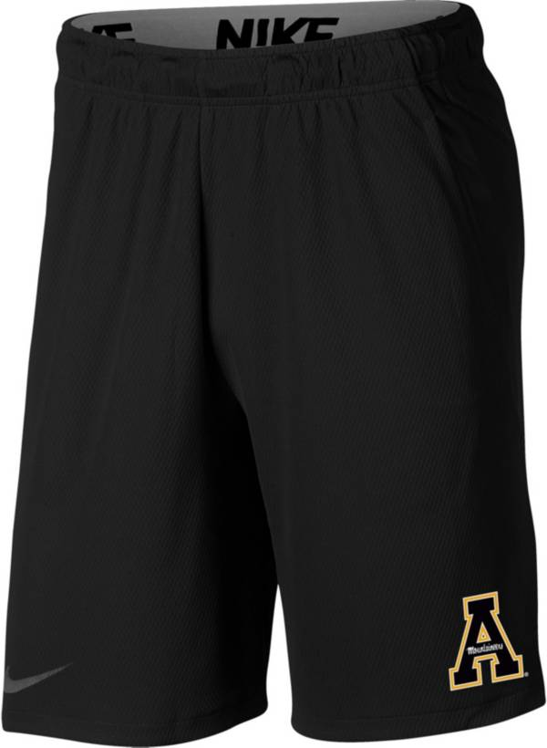 Nike Men's Appalachian State Mountaineers Dri-FIT Hype Black Shorts product image