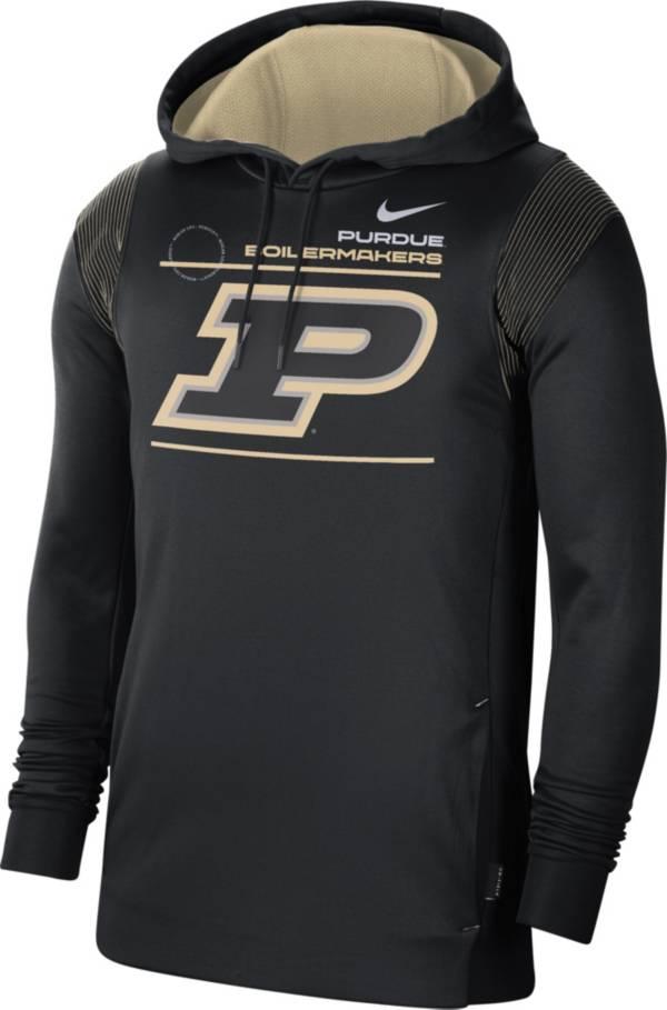 Nike Men's Purdue Boilermakers Therma Performance Pullover Black Hoodie product image