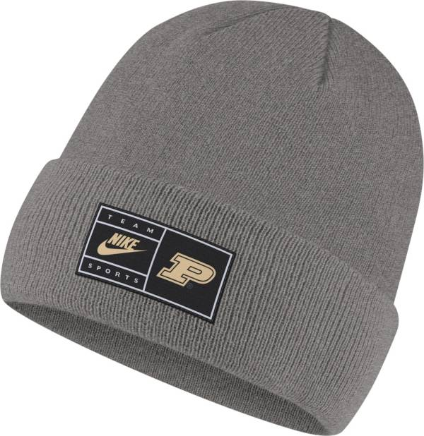 Nike Men's Purdue Boilermakers Grey Cuffed Knit Beanie product image