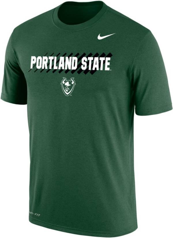 Nike Men's Portland State Vikings Green Dri-FIT Cotton T-Shirt product image