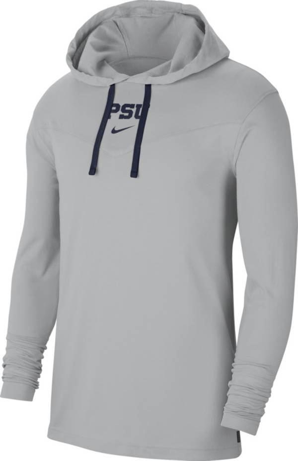 Nike Men's Penn State Nittany Lions Grey Long Sleeve Hooded T-Shirt product image