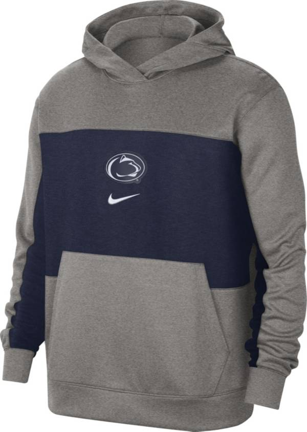 Nike Men's Penn State Nittany Lions Grey Dri-FIT Spotlight Pullover Hoodie product image