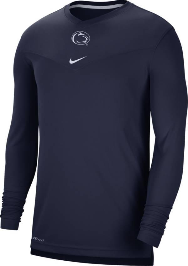 Nike Men's Penn State Nittany Lions Blue Football Sideline Coach Dri-FIT UV Long Sleeve T-Shirt product image