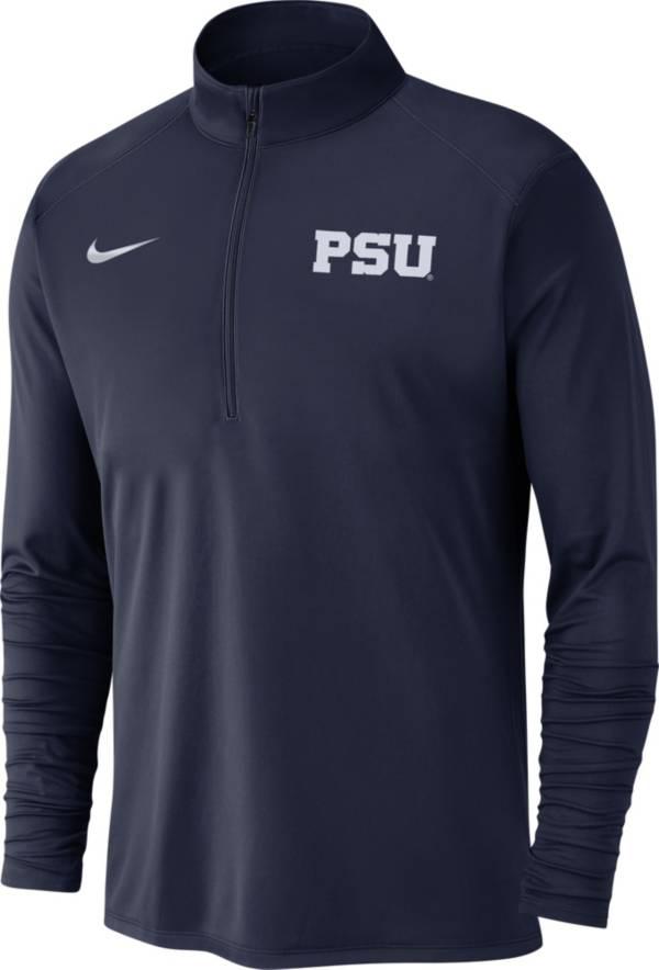 Nike Men's Penn State Nittany Lions Blue Dri-FIT Pacer Quarter-Zip Shirt product image
