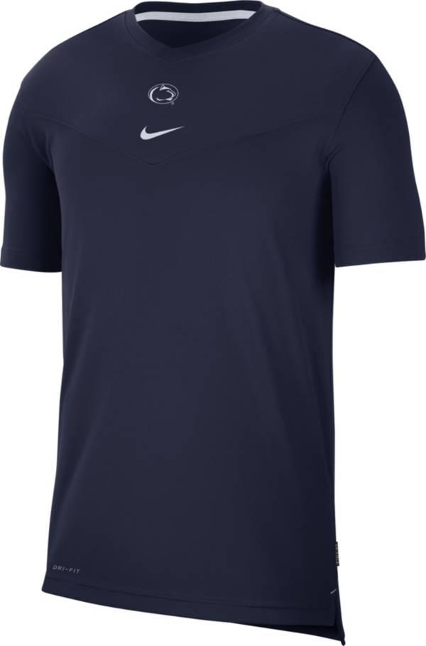Nike Men's Penn State Nittany Lions Blue Football Sideline Coach Dri-FIT UV T-Shirt product image