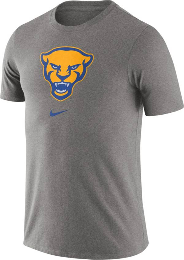 Nike Men's Pitt Panthers Grey Essential Logo T-Shirt product image