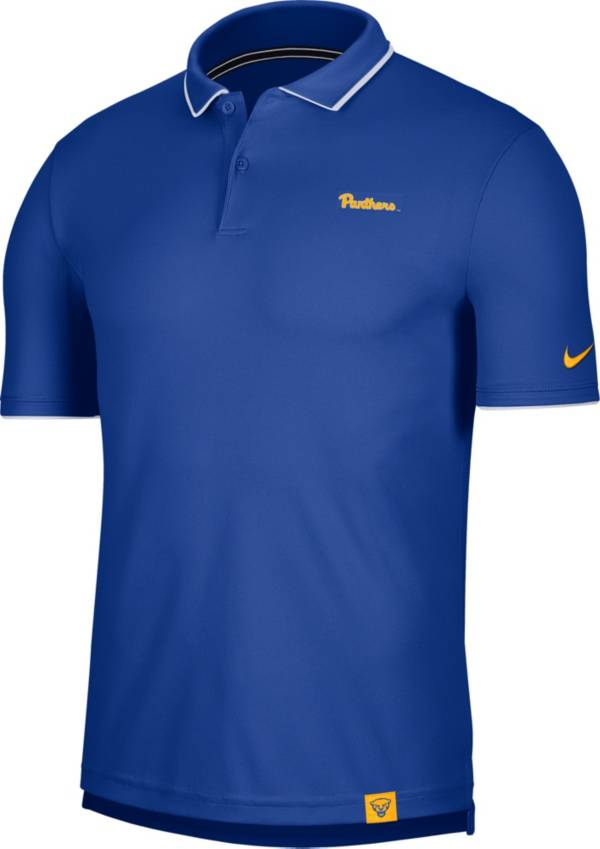 Nike Men's Pitt Panthers Blue Dri-FIT UV Polo product image