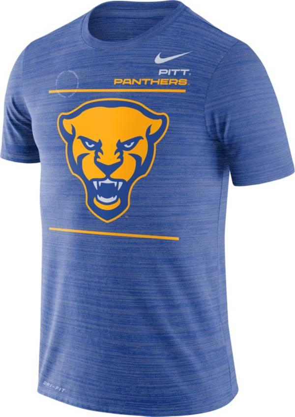 Nike Men's Pitt Panthers Blue Dri-FIT Velocity Football Sideline T-Shirt product image