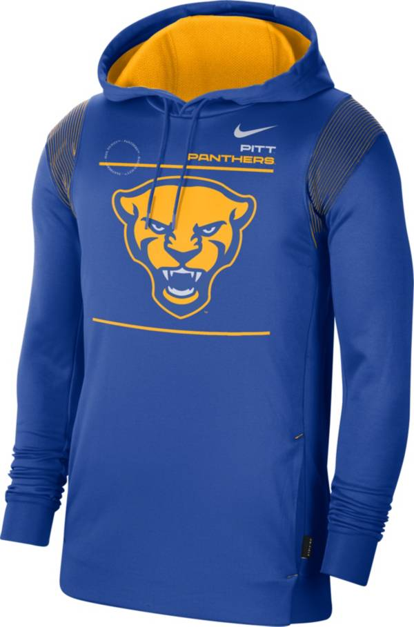 Nike Men's Pitt Panthers Blue Therma Performance Pullover Hoodie product image