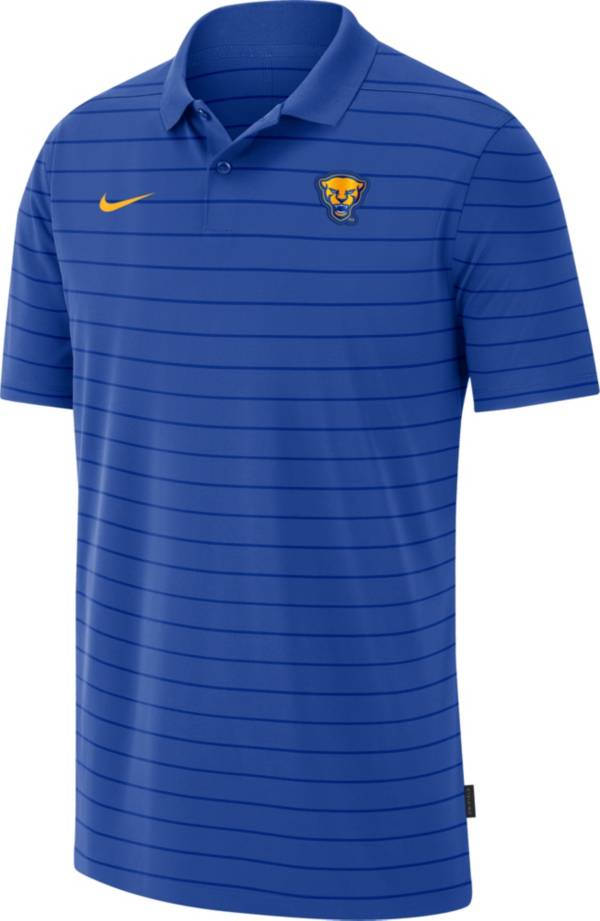 Nike Men's Pitt Panthers Blue Football Sideline Victory Polo product image
