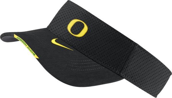 Nike Men's Oregon Ducks Aero Football Sideline Black Visor product image