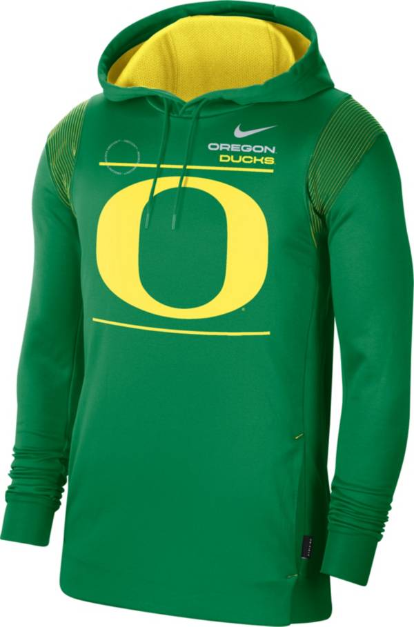 Nike Men's Oregon Ducks Green Therma Performance Pullover Hoodie product image