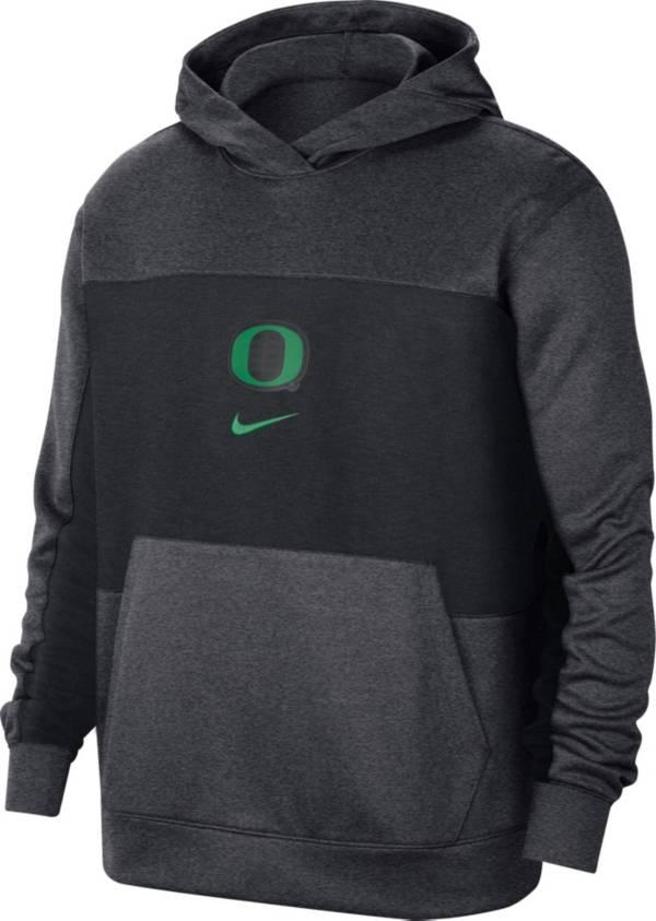 Nike Men's Oregon Ducks Grey Dri-FIT Spotlight Pullover Hoodie product image