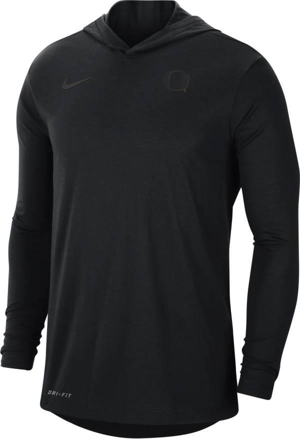 Nike Men's Oregon Ducks Black Dri-FIT Vapor Pinnacle Long Sleeve Hoodie T-Shirt product image
