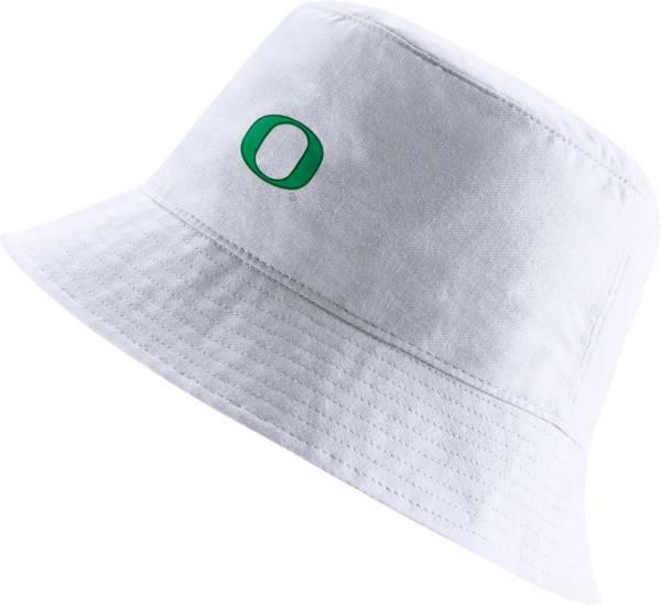 Nike Men's Oregon Ducks Core Bucket White Hat product image