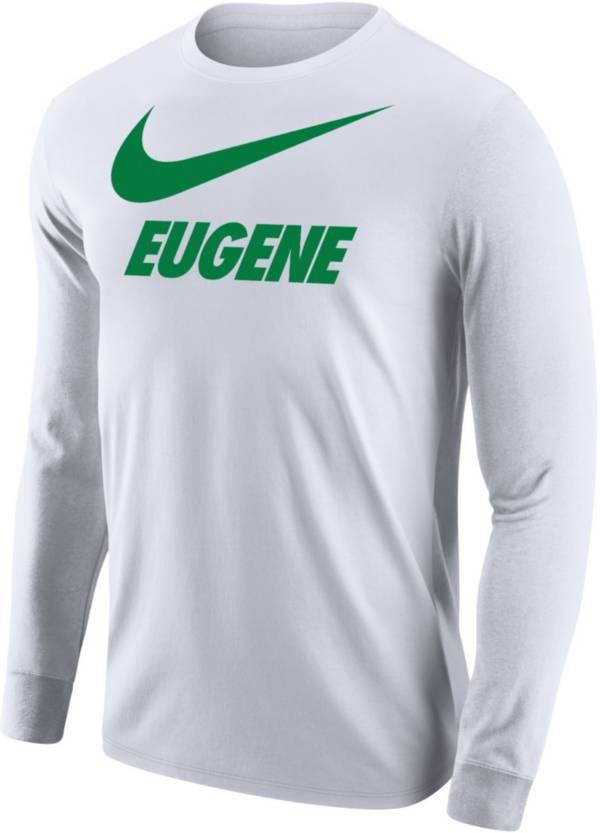 Nike Men's Eugene City Long Sleeve White T-Shirt product image