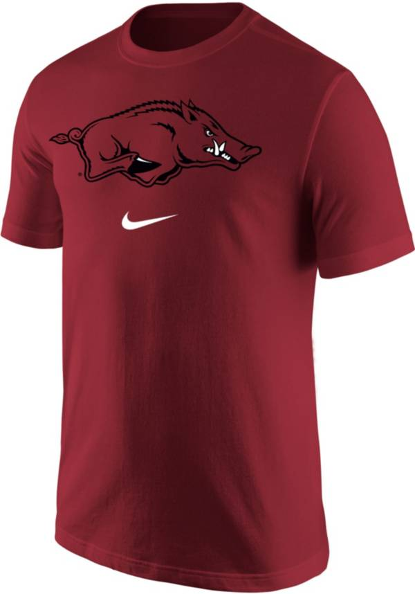 Nike Men's Arkansas Razorbacks Cardinal Core Cotton Logo T-Shirt product image