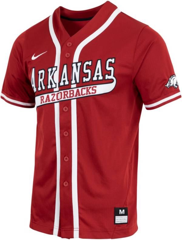 Nike Men's Arkansas Razorbacks Cardinal Dri-FIT Replica Baseball Jersey product image