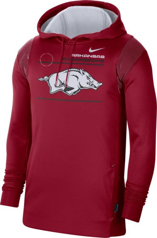 Nike Men's Arkansas Razorbacks Cardinal Therma Performance Pullover Hoodie product image
