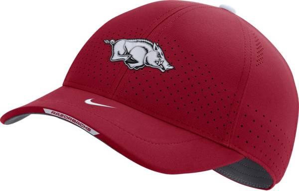 Nike Men's Arkansas Razorbacks Cardinal AeroBill Swoosh Flex Classic99 Football Sideline Hat product image