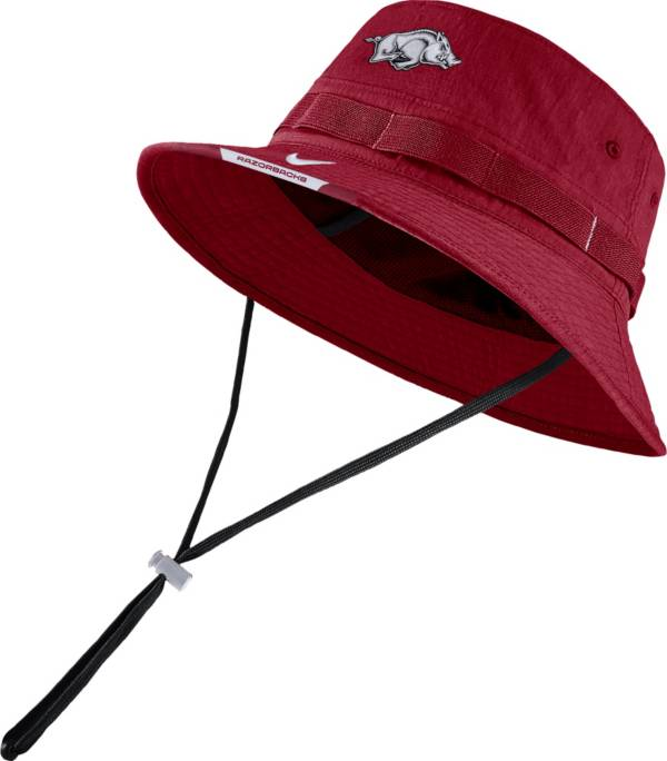 Nike Men's Arkansas Razorbacks Cardinal Dri-FIT Football Sideline Bucket Hat product image