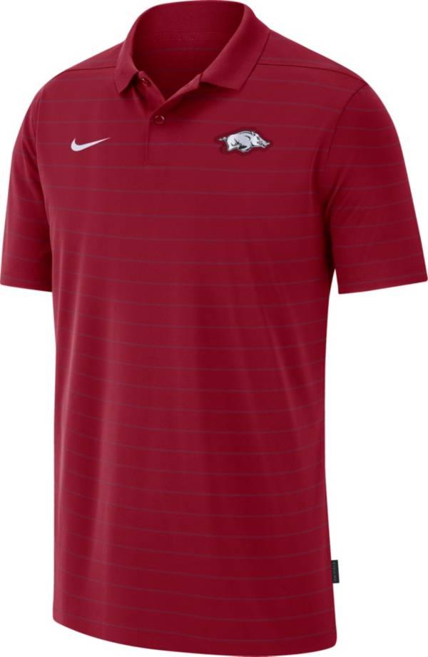 Nike Men's Arkansas Razorbacks Cardinal Football Sideline Victory Polo product image