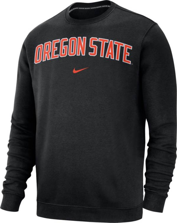 Nike Men's Oregon State Beavers Club Fleece Crew Neck Black Sweatshirt product image