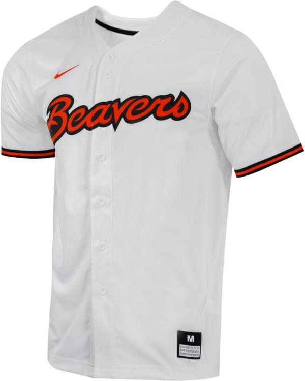 Nike Men's Oregon State Beavers Dri-FIT Replica Baseball White Jersey product image