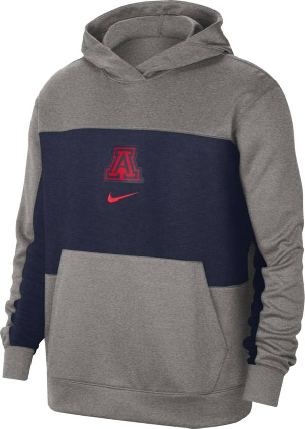 Nike Men's Arizona Wildcats Grey Dri-FIT Spotlight Pullover Hoodie product image