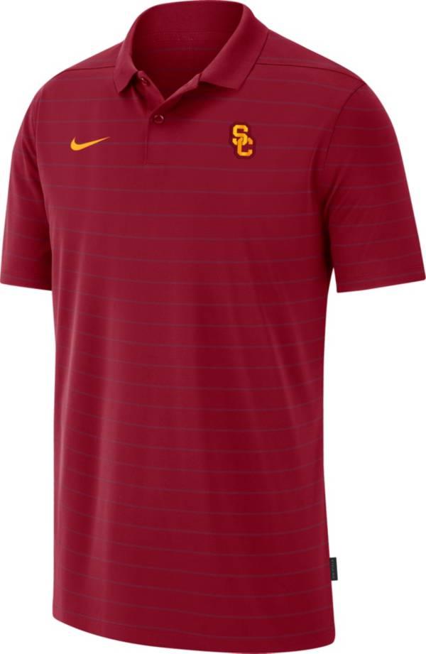 Nike Men's USC Trojans Cardinal Football Sideline Victory Polo product image