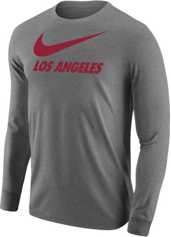 Nike Men's Los Angeles Grey City Long Sleeve T-Shirt product image