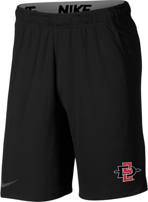 Nike Men's San Diego State Aztecs Dri-FIT Hype Black Shorts product image