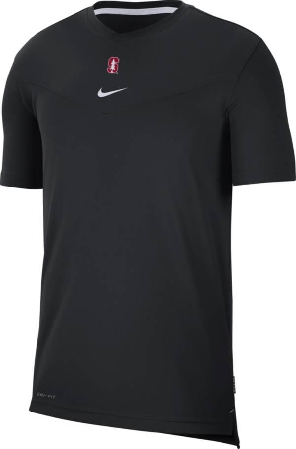 Nike Men's Stanford Cardinal Football Sideline Coach Dri-FIT UV Black T-Shirt product image